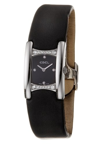 Ebel BELUGA MANCHETTE 9057A28-563035A06 - Reloj de mujer de cuarzo, correa color negro