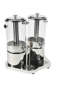 "Bon Chef 40506 Double Juice Dispenser, 4 gal Capacity, 19-1/4"" Diameter x 21-1/4"" Height"
