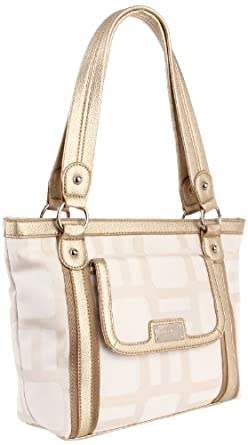Nine West Vegas Signs Shopper Med Satchel,White,One Size