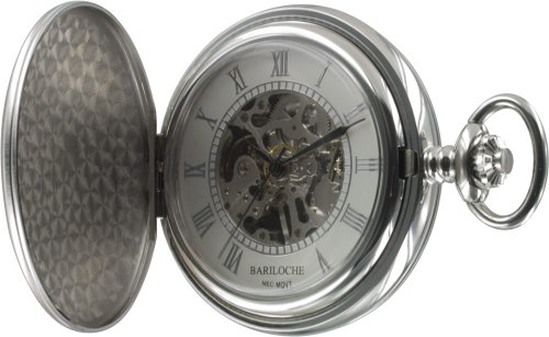 Stainless Steel Pocket Watch by Bariloche 57528CP-W2