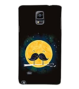 Vizagbeats Sparrow Pair Fullmoon Moonstache Back Case Cover for Samsung Galaxy Note 4