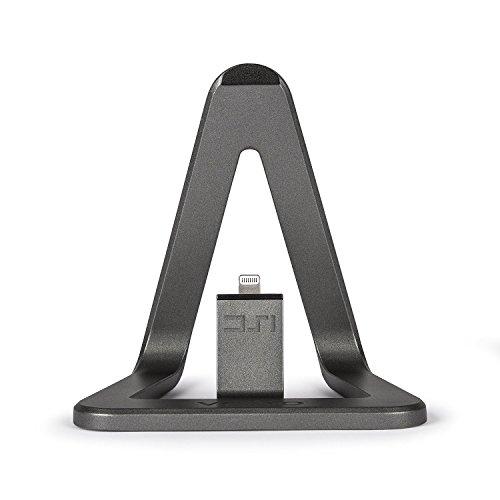Veho DS-1 Series iPhone用 アルミニウムグレー デスクスタンド Apple認証 MFI Lightning ケーブル (1.5m) 付属 VPP-801-MFI (iPhone - Lightningコネクター)