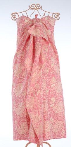 Pink Paisley Hand Made Batik Sarong