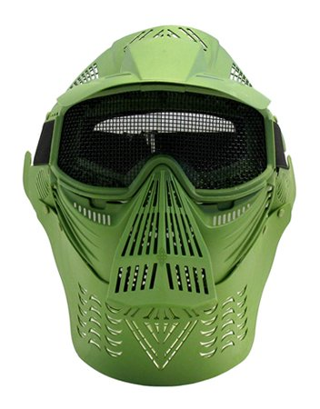 Tactical Full Face Airsoft Mask Metal Mesh Eye