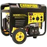 Champion Power Equipment 46565 4,000 Watt 196cc 4-stroke Gas Powered Portable Generator with Wireless Remote Electric Start