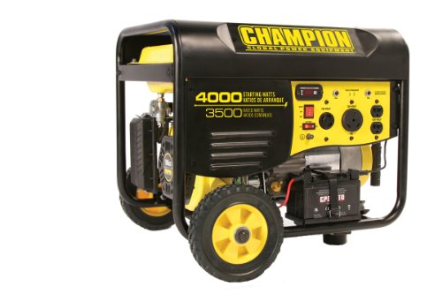 Champion Champion Power Equipment 46565 4,000 Watt 196cc 4-stroke Gas Powered Portable Generator with Wireless Remote Electric Start