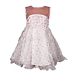 Softouch Girls' Frock (White Peach_2-3 Years)
