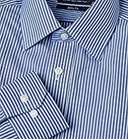 "2"" Longer Slim Fit Cotton Rich Non-Iron Striped Shirt"
