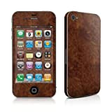 Apple iPhone 4用スキンシール【Dark Burlwood】