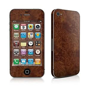 Apple iPhone 4用スキンシール【Dark Burlwood】