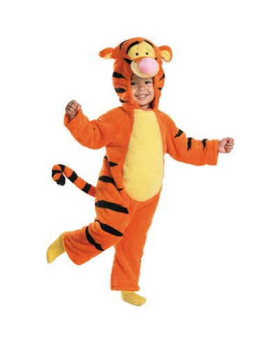 Baby-Toddler-Costume Tigger Deluxe Plush Toddler Costume 3T-4T Halloween