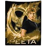Hunger Games Peeta Throw Blanket and Pillowcase