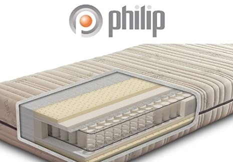 Philip Balance Plus Luxus-Tonnen-Taschenfederkern-Matratze mit Kaltschaum und Aloe Vera Bezug, Größe:120 x 200 cm;Härtegrad:H2