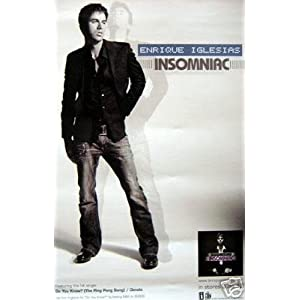 Enrique Iglesias Poster on Amazon Com  Enrique Iglesias   Insomniac   Original Promotional Poster