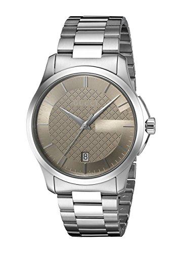 9733664e80ae Gucci Unisex Watch Hombre Relojes cuarzo reloj con metal banda G de Timeless  analógico de cuarzo