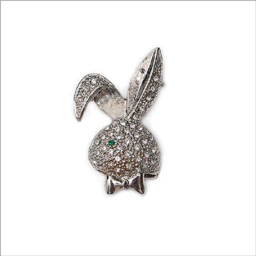 Fashion Trendy Rabbit Crystal Brooch #004472