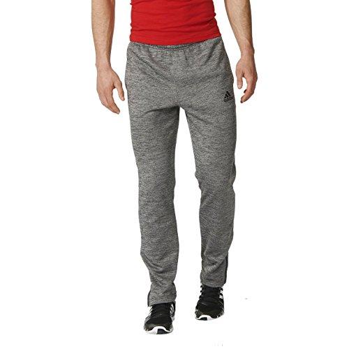 adidas Men's Team Issue Fleece Jogger Pants, Large, Dark Grey Heather/Heather/Black