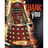 Pack of 6 Dr Who Thank You Cards with Envelopes. Size 17cm X 14cm.