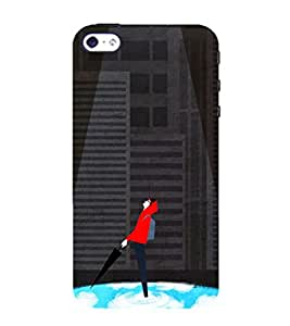 99Sublimation Boy Under spotlight 3D Hard Polycarbonate Back Case Cover for Apple iPhone 5