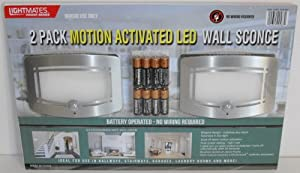 9  Lightmates Motion Activated Battery Operated LED Wall