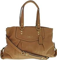Coach 19243 Ashley Camel Tan Leather Convertible Carryall Handbag