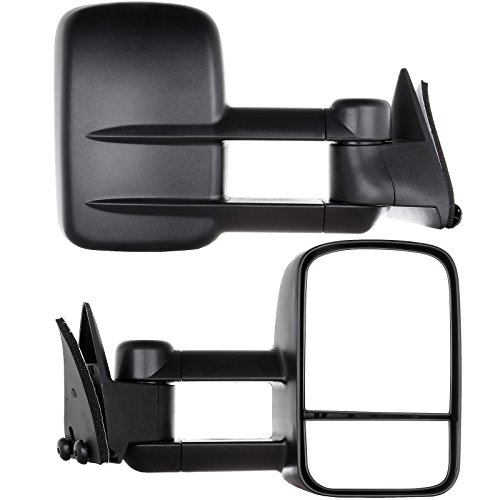 Chevrolet Gmc C K 1500 2500 3500 Truck 88 - 98 Towing Manual Mirror Pair Set (98 Chevy 1500 Tow Mirrors compare prices)