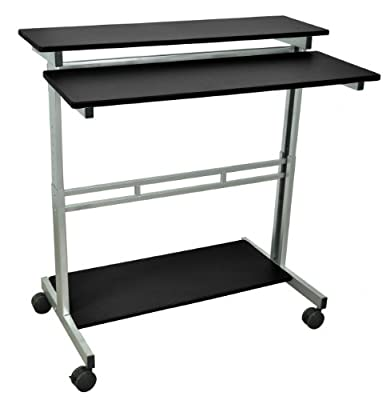 "Luxor Office 40"" Adjustable Stand Up Desk - Black"