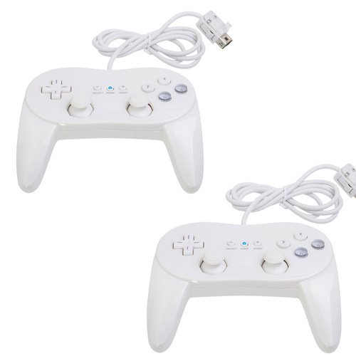 Donop® 2 Pack White Controller for Wii,classic Console Gampad Gaming Pad Joypad Pro for Nintendo Wii 2 Pack (Control Wii Classic compare prices)