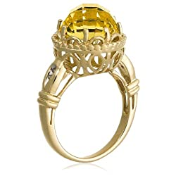 10k Yellow Gold Lemon Quartz Ring