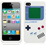 IPHONE 4 / IPHONE 4S GAMEBOY STYLE SILICONE CASE / COVER / SHELL / SKIN - WHITE