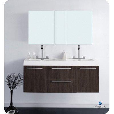 Opulento Modern Double Bathroom Vanity W/ Medicine Cabinet