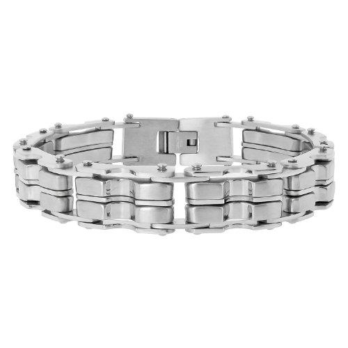 Men's Stainless Steel Grey Link Bracelet
