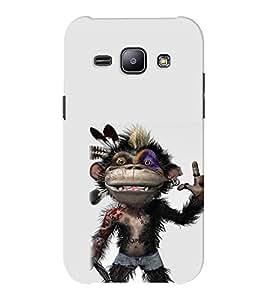 EPICCASE Monkey Rap Mobile Back Case Cover For Samsung J1 Ace (Designer Case)