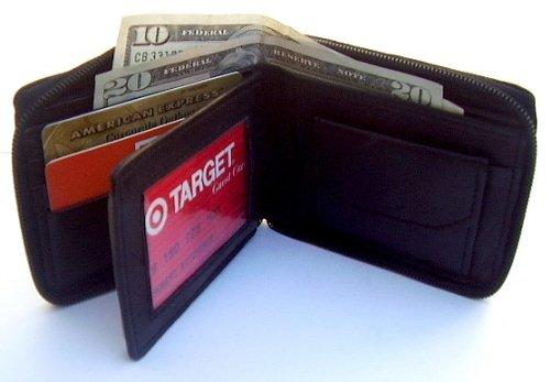 Zippered Mens Wallet