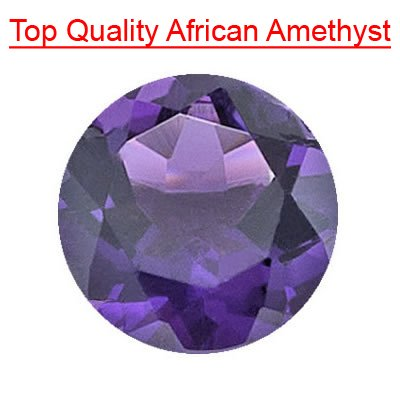 1.66 Cts of 7 mm Round Loose Amethyst ( 1 pcs