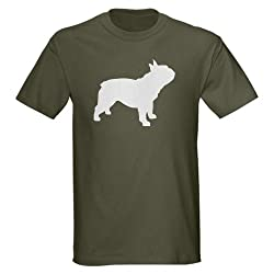 french bulldog Dark T-Shirt by CafePress - L Military Green
