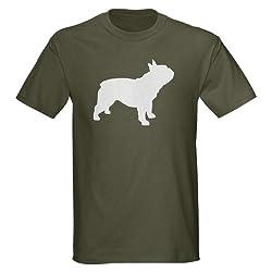 french bulldog Dark T-Shirt by CafePress - L Military Green