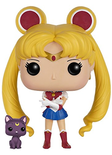 Funko - Figurine Sailor Moon - Sailor Moon & Luna Pop 10cm - 0849803063504