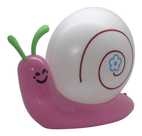 Ultra ® rosa carino adorabile lumaca Battery powered LED notte luce 3D parete decorazione LED Baby lampada Toy Home Decal gioco bambini novità regalo