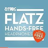 EMPIRE FLATZ 3.5mm Stereo Hands-Free In-Ear Headphones for BLU Studio 5.0 S - Red / Black