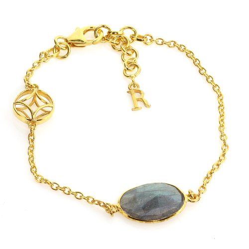 Compass Bracelet In Gold Vermeil & Labradorite