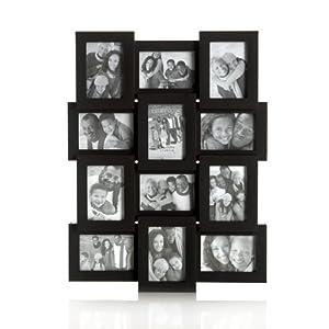 Melannco Mini Black Collage, Holds 12 Photos