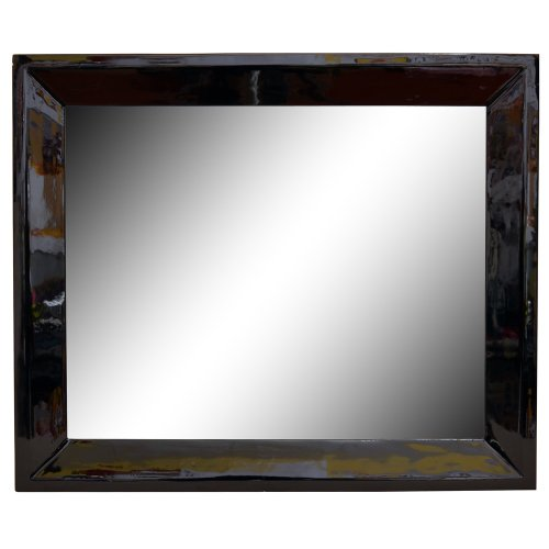 Brio 31785 miroir seattle noir 50 x 70 cm entr e for Miroir long noir