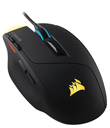 Corsair CH-9000111-EU Sabre RGB Mouse da Gaming, Sensore Ottico da 6400DPI, Retroilluminazione LED RGB, Nero