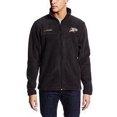 NCAA Purdue Boilermakers Mens Collegiate Flanker II Full Zip Fleece Sweater by Columbia