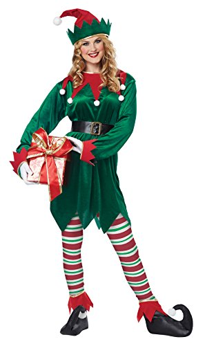 California Costumes Christmas Elf Adult,