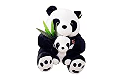Lovely Panda Mom and Baby Plush Doll Toy Soft Pillow Cushion (40cm)