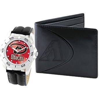 Game Time Unisex MLB-WWS-ARI Wallet and Arizona Diamondbacks MLB Watch Set by Game Time