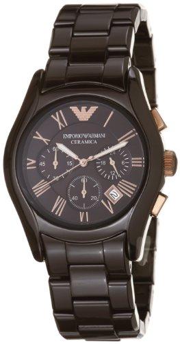 Emporio Armani Women's AR1446 Ceramic Brown Ceramic Chronograph Dial Watch