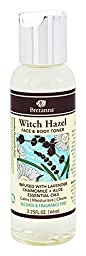 Bretanna All-Natural Witch Hazel, Alchohol Free Face & Body Cleansing Toner, Infused with Calming Lavender Chamomile Aloe True Essential Oils for All Skin Types, 2.25 Oz